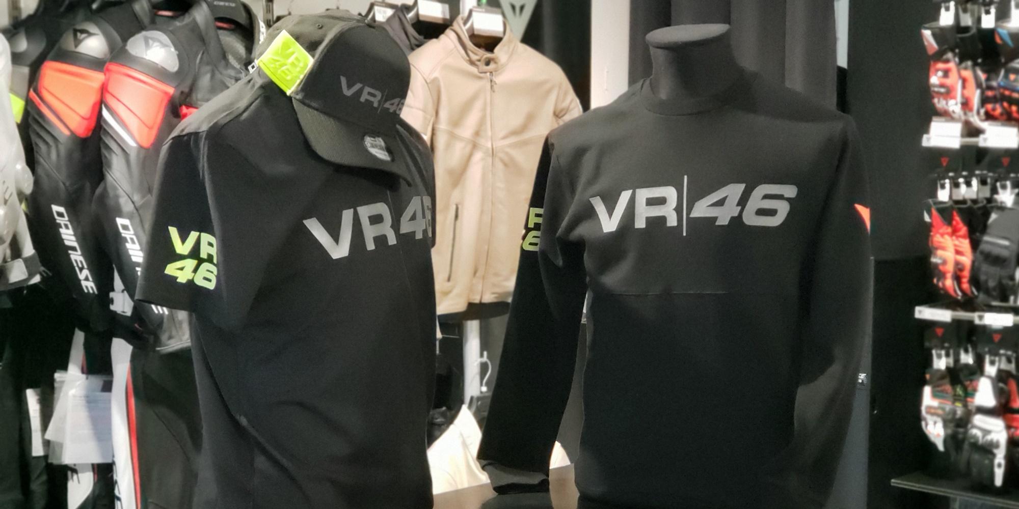 VR46×DAINESEコラボのカジュアルウェア2点入荷いたしました。