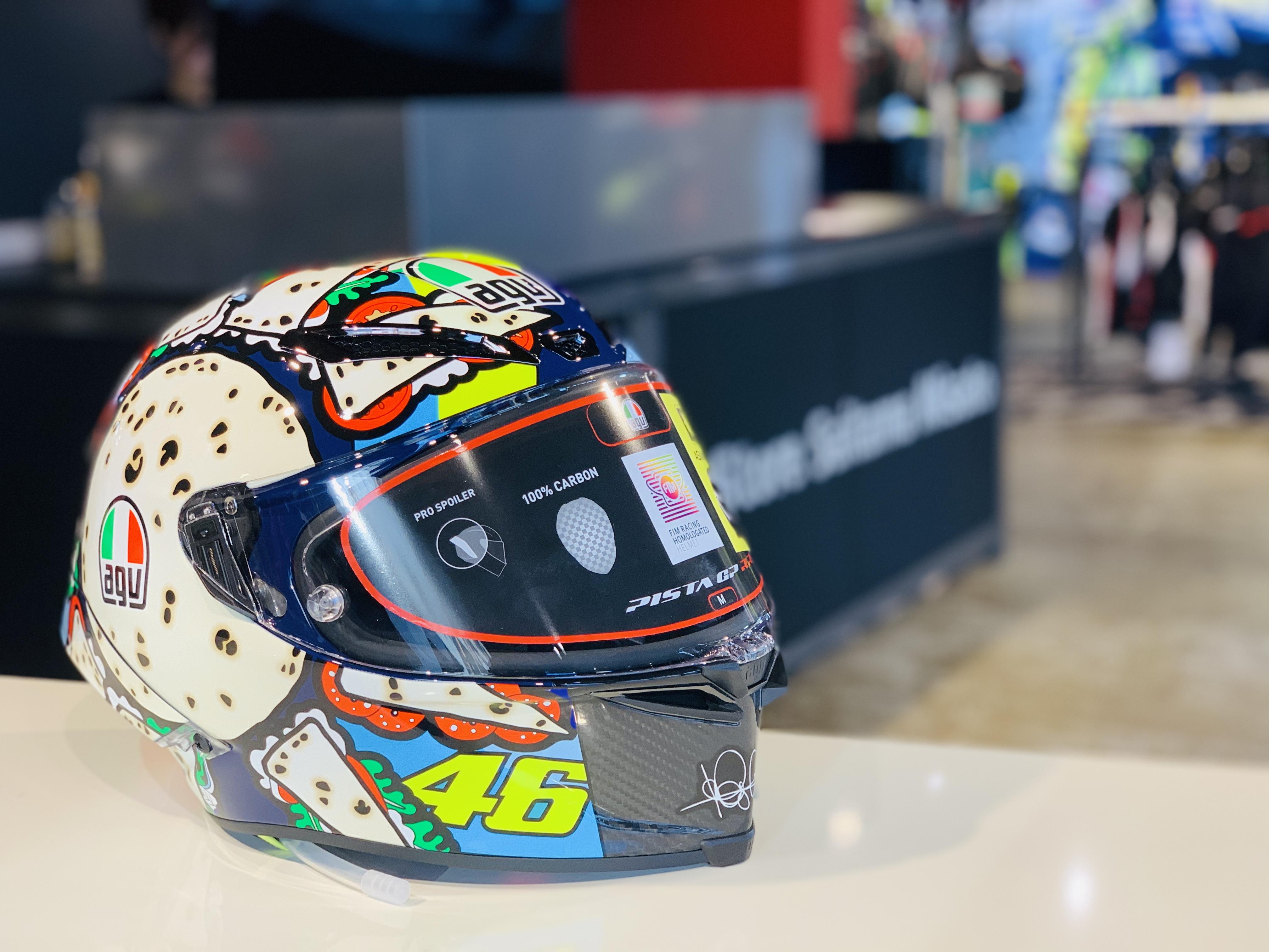 Valentino Rossiが2019年のミサノGPで使用したスペシャルグラフィック 'MENU MISANO'が入荷