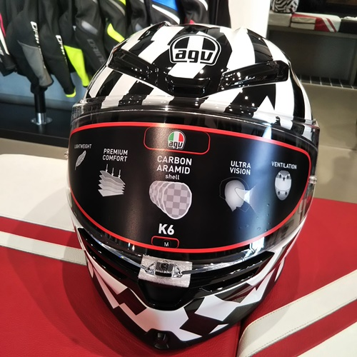 <新作>AGV K6 SECRET BLACK/WHITEのご紹介